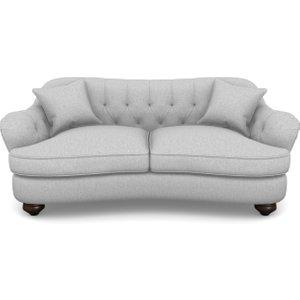 Fairmont 3 Seater Sofa In Easy Clean Plain- Silver Sofas