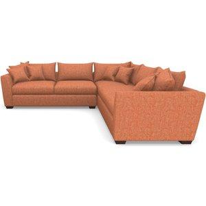 Hambledon Corner Sofa Large Corner Group In Mottled Linen Cotton- Fruit Sofas