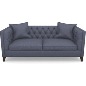 Haresfield 3 Seater Sofa In Clever Cotton Mix- Oxford Blue Sofas