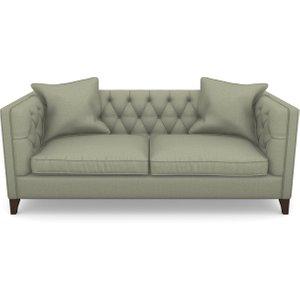 Haresfield 3 Seater Sofa In Plain Linen Cotton- Sage Sofas