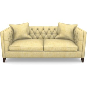 Haresfield 3 Seater Sofa In Textured Plain- Corn Sofas