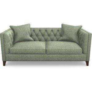 Haresfield 3 Seater Sofa In Textured Velvet- Seagrass Sofas