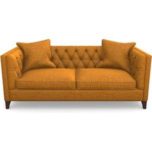 Haresfield 3 Seater Sofa In Textured Velvet- Turmeric Sofas