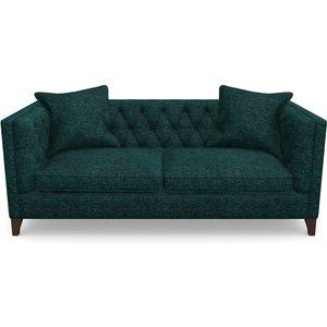 Haresfield 3 Seater Sofa In Textured Velvet- Viridian Sofas