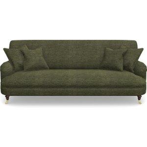 Holmfirth 3 Seater Sofa In Textured Velvet- Lichen Sofas