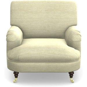 Holmfirth Gents Chair In Textured Velvet- Almond Sofas
