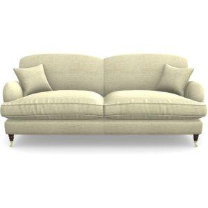 Kentwell 4 Seater 2 Hump Split Sofa In Textured Velvet- Almond Sofas