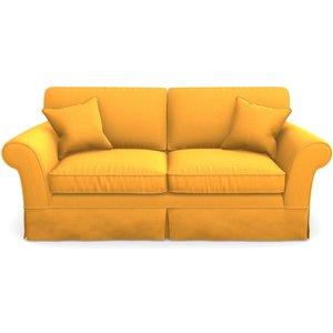 Lanhydrock 3 Seater Sofa In Clever Matt Velvet- Mango Sofas