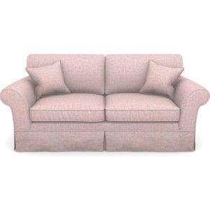 Lanhydrock 3 Seater Sofa In Textured Plain- Rose Sofas