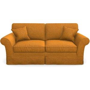 Lanhydrock 3 Seater Sofa In Textured Velvet- Turmeric Sofas