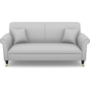 Petworth 3 Seater Sofa In Easy Clean Plain- Silver Sofas