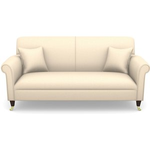 Petworth 3 Seater Sofa In Plain Linen Cotton- Rice Pudding Sofas