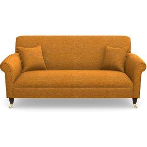 Petworth 3 Seater Sofa In Textured Velvet- Turmeric Sofas