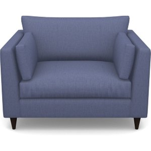 Saltdean Snuggler In Clever Cotton Mix- Oxford Blue Sofas