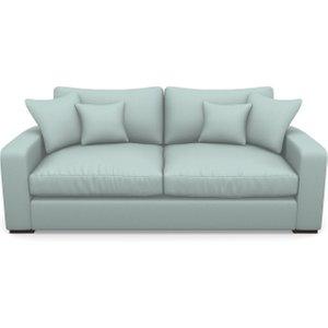 Stockbridge 3 Seater Sofa In Plain Linen Cotton- Robins Egg Sofas