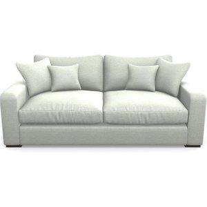 Stockbridge 3 Seater Sofa In Textured Velvet- Silver Sofas