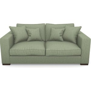 Stourhead 3 Seater Sofa In Clever Cotton Mix- Forest Sofas