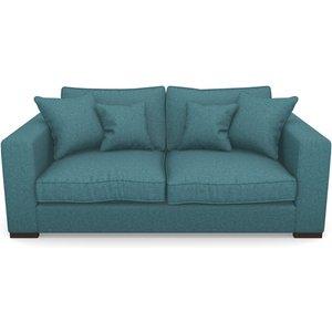 Stourhead 3 Seater Sofa In Soft Wool- Cerulean Sofas
