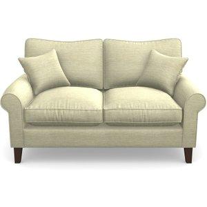 Waverley Scroll Arm 2 Seater Sofa In Textured Velvet- Almond Sofas