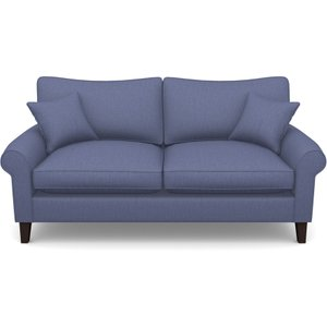 Waverley Scroll Arm 2.5 Seater In Clever Cotton Mix- Oxford Blue Sofas