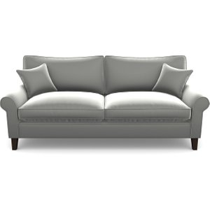 Waverley Scroll Arm 3 Seater Sofa In Clever Glossy Velvet- Fifty Shades Sofas