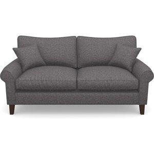 Waverley Scroll Arm 3 Seater Sofa In Easy Clean Plain- Ash Sofas