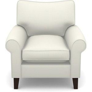 Waverley Scroll Arm Chair In Plain Linen Cotton- Meringue Sofas