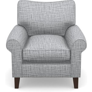 Waverley Scroll Arm Chair In Textured Plain- Anthracite Sofas