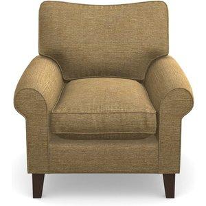 Waverley Scroll Arm Chair In Textured Velvet- Balsa Sofas