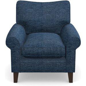 Waverley Scroll Arm Chair In Textured Velvet- Denim Sofas