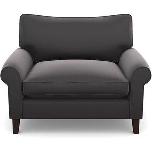 Waverley Scroll Arm Snuggler In Clever Glossy Velvet- Shadow Sofas