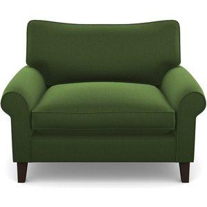 Waverley Scroll Arm Snuggler In Clever Matt Velvet- Highland Green Sofas