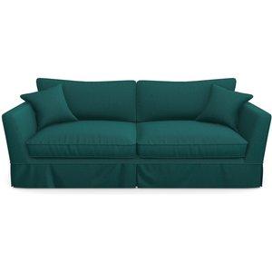 Weybourne 3 Seater Sofa In Clever Matt Velvet- Peacock Sofas