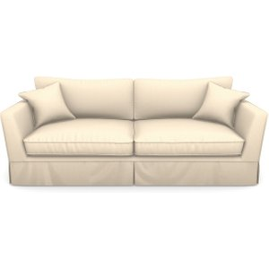 Weybourne 3 Seater Sofa In Plain Linen Cotton- Rice Pudding Sofas