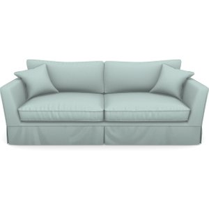 Weybourne 3 Seater Sofa In Plain Linen Cotton- Robins Egg Sofas