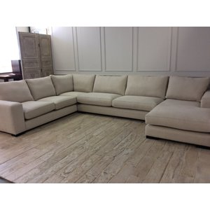 Ashdown U-shaped Sofa With Right Chaise In Hopsack - Almond