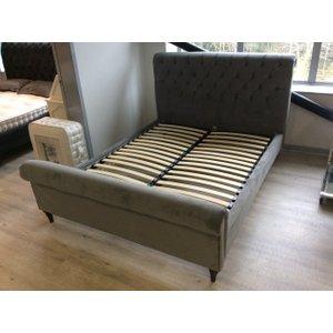 Avoca King Size Bed In Warwick Plush Velvet Slate