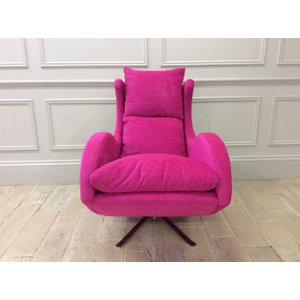 Enzo Swivel Chair In Pascal 25 Fabric