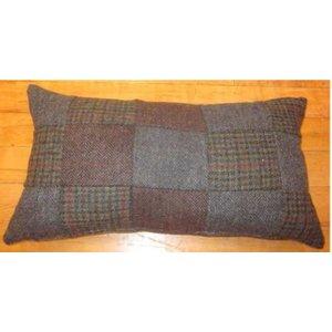 Harris Tweed Large Patchwork Lumbar Cushion
