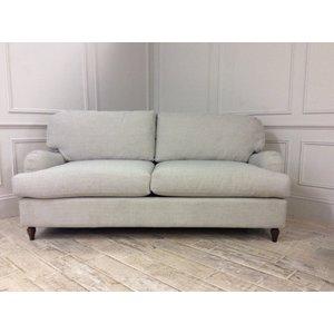 Helston 3.5 Seater Sofa Bed In Celadon Broad Weave Linen