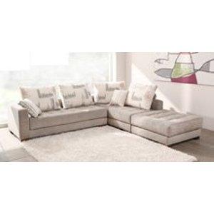 Morellia Modular 4x2 Seater Corner Sofa With Large Footstool [mbx1+mbx1>puf100]