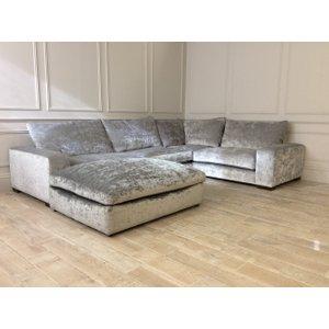 Wychwood Grand Corner Sofa With Grand Foot Stool In Ondea - Cloud Velvet