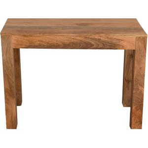 Furntastic Dakota Indian Mango Wood 100cm Console Table - Light Cfsud 780