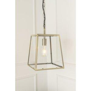 Furntastic Hustler Gold And Glass Ceiling Pendant Light - W 28cm X D 28cm X H 29cm Furnudgd 057, Gold