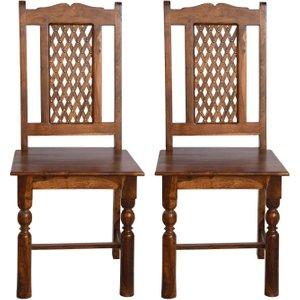 Furntastic Jali Sheesham Dining Chair Cfsud 722