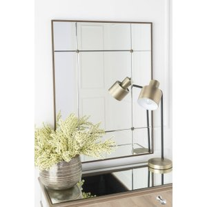 Furntastic Miltown Trio Panel Rectangular Mirror With Antique Gold Embellishment - W 70cm X H 95cm FURNUDGD 024, Antique Gold
