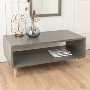 Furntastic Spider Faux Concrete Cube Coffee Table FURNUDGD 070
