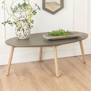 Furntastic Spider Faux Concrete Oval Coffee Table FURNUDGD 071