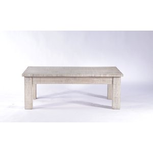 Furntastic Urban Deco Shabby Chic White Washed Distressed Small Coffee Table Cfsud 365, White Washed