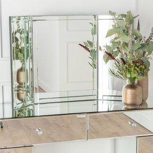 Furntastic Vance Vanity Rectangular Mirror Cfsud 538, Mirrored